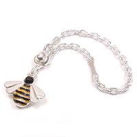 サツルノ:ミツバチのシルバーキーホルダー