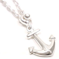 サツルノ:錨のシルバーキーホルダー