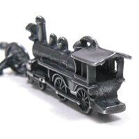 ミニチュア蒸気機関車のシルバーキーチェーン