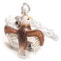 サツルノ:鷹のシルバーキーホルダー