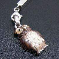 フクロウのストラップシルバー925:銀製