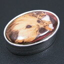 ピルケース 小物入れ 犬と子猫の絵 シルバー925