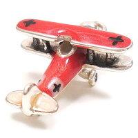 サツルノ:複葉戦闘機のシルバーチャーム:レッド