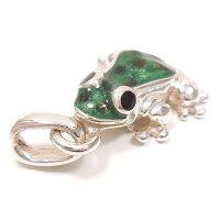 サツルノ:カエルのシルバーチャーム