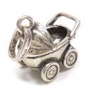 チャーム ペンダントトップ シルバー925 いぶし銀 ベビーカー イタリア製 CHARMS&Co. インポート レデ...