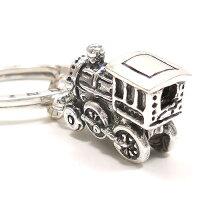 ジョバンニ・ラスピーニ:機関車のシルバーチャーム・キーリングセット