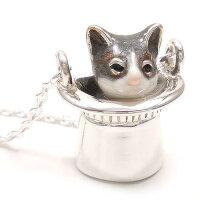 猫のペンダント・ネックレス