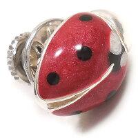 サツルノ:てんとう虫のシルバーピンブローチ