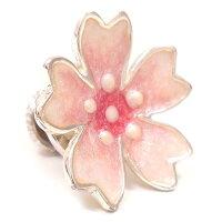 サツルノ:桜のシルバーピンブローチ