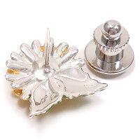 サツルノ:ピンポン菊のシルバーピンブローチ