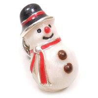 サツルノ:雪だるまのシルバーピンブローチ