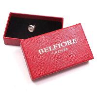 ベルフィオーレ:丸型ボタン風のシルバーピンブローチ