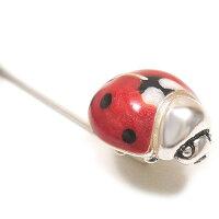 サツルノ:てんとう虫のハットピン