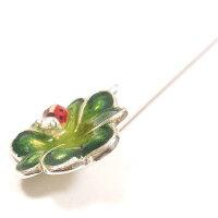 サツルノ:てんとう虫&四つ葉のハットピン