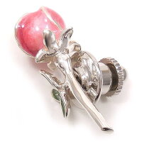 サツルノ:バラのシルバーピンブローチ