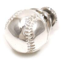 サツルノ:野球ボールのシルバーピンブローチ