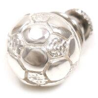 サツルノ:サッカーボールのシルバーピンブローチ