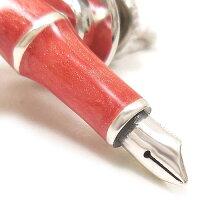 サツルノ:万年筆のシルバーピンブローチ