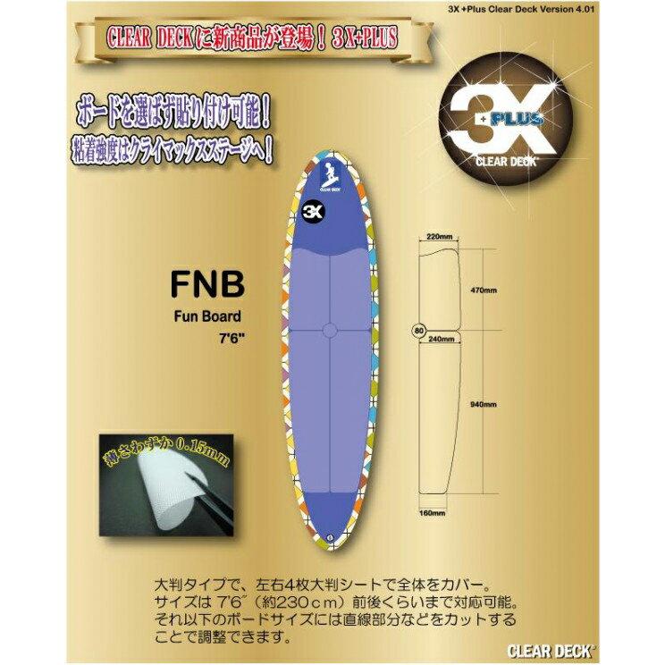 3X+PLUS クリアデッキ FNB ファンボード用テールデッキ含まず(大判など5枚入り)