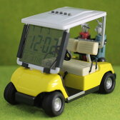 【コンペ 景品 賞品】ゴルフ ゴルフカート型 時計 【イエロー/ITC-6030-YWD】【送料無料】 置き時計 父の日 インテリア時計 クロック おしゃれ プレゼント ギフト 新生活 新社会人 入学 卒業 ゴルフコンペ