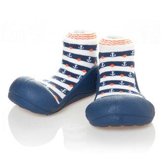 嬰幼鞋Attipas馬林深藍嬰兒長筒靴嬰兒分娩祝賀小孩小孩乳兒嬰幼兒以及稻草或者禮物禮物祝賀安全放心的住吉店