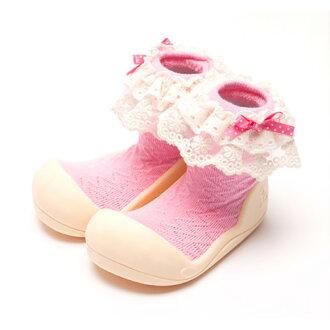 嬰幼鞋Attipas女士粉紅嬰兒長筒靴嬰兒分娩祝賀小孩小孩乳兒嬰幼兒以及稻草或者禮物禮物祝賀安全放心的住吉店