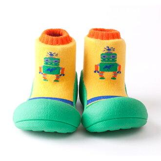 嬰幼鞋Attipas機器人綠色嬰兒長筒靴嬰兒分娩祝賀小孩小孩乳兒嬰幼兒以及稻草或者禮物禮物祝賀安全放心的住吉店
