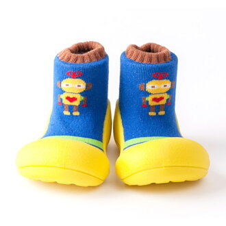 嬰幼鞋Attipas機器人黄色嬰兒長筒靴嬰兒分娩祝賀小孩小孩乳兒嬰幼兒以及稻草或者禮物禮物祝賀安全放心的住吉店