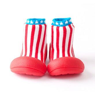 嬰幼鞋Attipas LITTLE STAR紅嬰兒長筒靴嬰兒分娩祝賀小孩小孩乳兒嬰幼兒以及稻草或者禮物禮物祝賀安全放心的住吉店