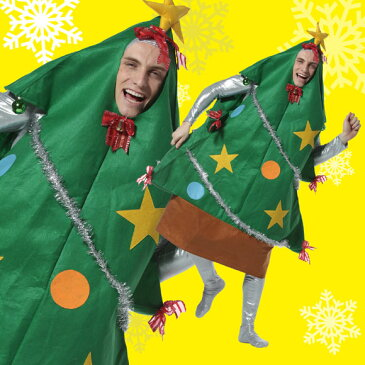 【クリスマス コスプレ】ツリーマン 男女兼用 クリスマスツリー 衣装 送料無料 着ぐるみ サンタ 衣装 おもしろ サンタクロース 男性用 女性用 メンズ トナカイ 衣装 仮装 コスチューム 余興 2次会 サンタコス 安い パーティ クリパー