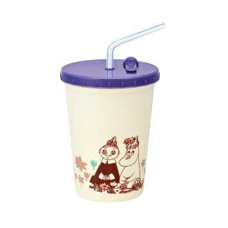 附帶吸管的大玻璃杯500mL人物午餐便當飲料小孩孩子的幼稚園小學生遊玩外出運動會徒步旅行郊遊禮物禮物入園入學杯子茶杯大玻璃杯