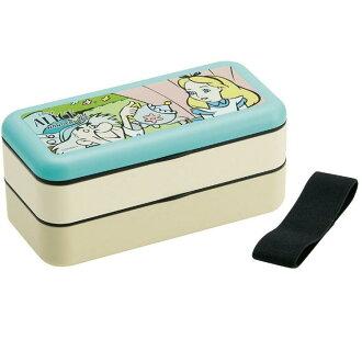 [便當箱子不可思議的國家的愛麗絲]簡單午餐盒600ml[愛麗絲喜劇臉/SLBW6]人物迪士尼午餐便當小孩孩子的學生社會一員遊玩外出運動會徒步旅行郊遊禮物禮物