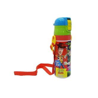 超輕量、附帶小型的鎖頭的一推直接瓶470ml人物迪士尼午餐便當小孩孩子的幼稚園小學生遊玩外出運動會徒步旅行郊遊禮物禮物入園入學瓶TOY STORY