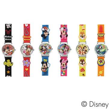 【腕時計 キッズ】 ディズニー/キャラクターウォッチ 【ミッキー×ブラック/ミニー×レッド/ミッキー×ブルー/ミニー×ピンク/チップ×デール/トイストーリー/WD-S02】【送料無料】 キャラクター アナログ 子供用 サンフレイム