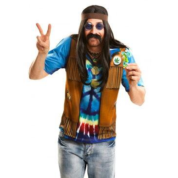 【ハロウィン コスプレ】 Hippie boy 〜175cm ■ ハロウィーン パーティー コスチューム 結婚式 二次会 余興 忘年会 新年会 出し物 歓迎会 送迎会