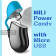 【Micro USB接続スマホ対応リチウム電池内蔵充電器】MiLi Power Candy with Micro USB【HB-Y05-02】 USB デバイス 充電 USB端子 補助バッテリー 充電ケーブル OTAS Direct オータス