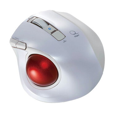 【パソコン マウス ワイヤレス】 ナカバヤシ 小型Bluetooth静音5ボタントラックボール ホワイト 【MUS-TBLF134W】【送料無料】 windows mac android タブレットPC 無線 小型 ブルートゥース ウィンターキャンペーン