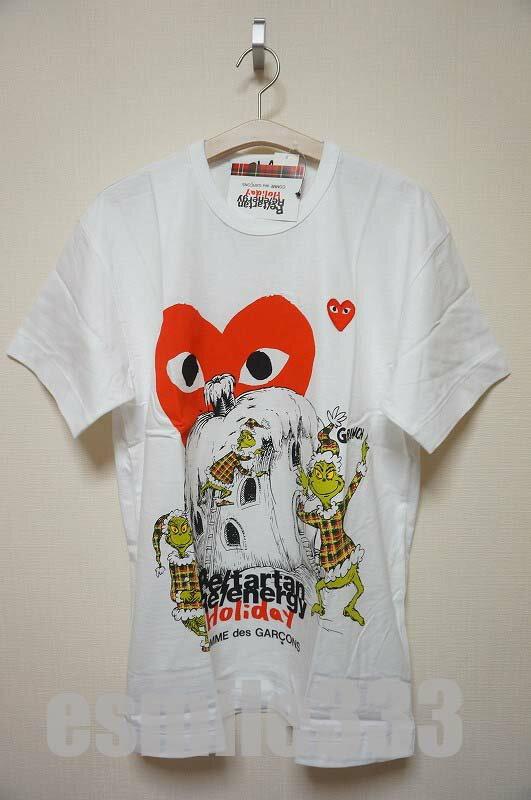 トップス, Tシャツ・カットソー COMME des GARCONPLAYHOLIDAY PLAY T(M)GRINCH