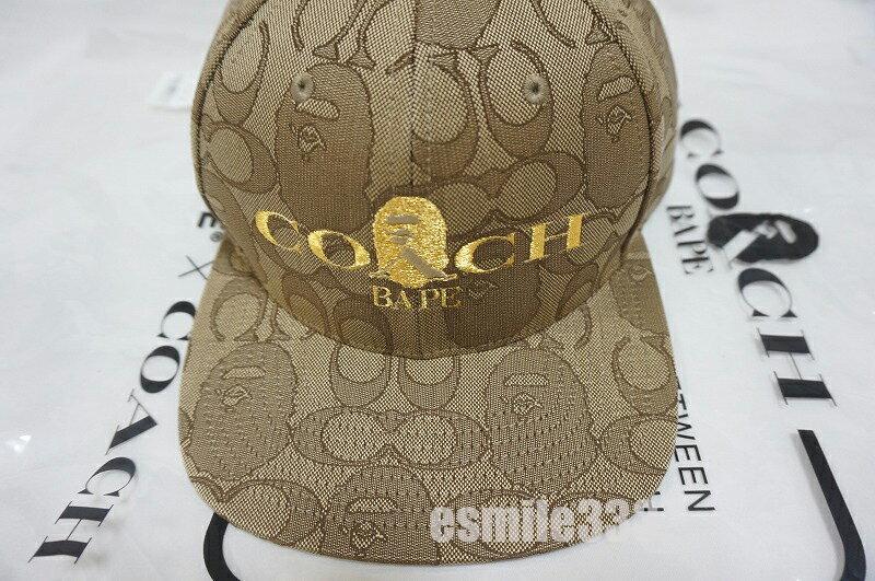メンズ帽子, キャップ BAPE x COACH JACQUARD A BATING APE BASEBALL CAP