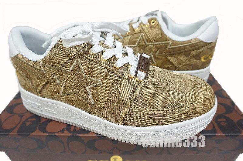 メンズ靴, スニーカー BAPE X COACH BAPE STA 1 BEIGE us9 27cm A BATING APE