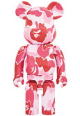 BE@RBRICKBAPEABCCAMO1000%Pink/ピンク迷彩ベアブリック