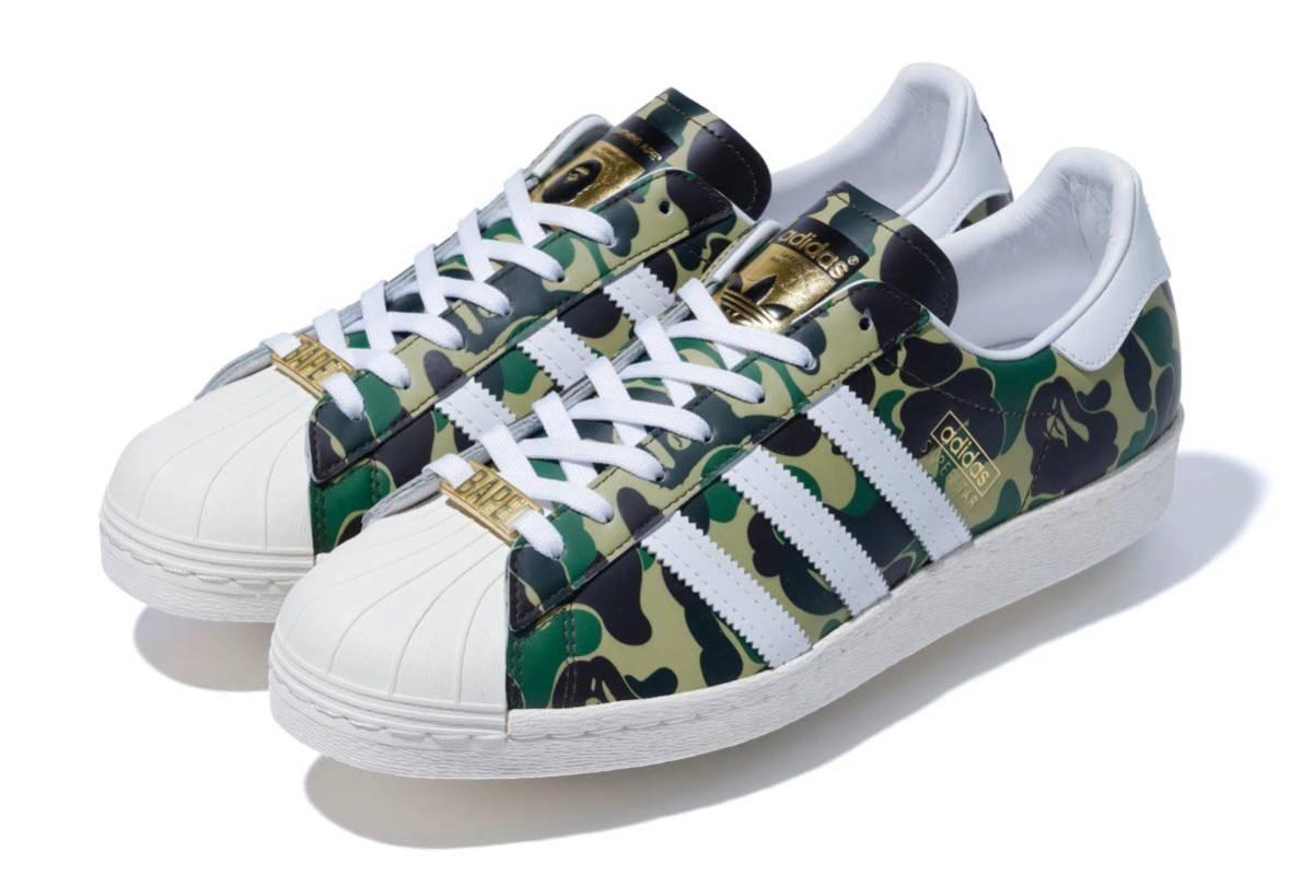 メンズ靴, スニーカー  BAPE X ADIDAS SUPERSTAR 80S BAPE ABC CAMO US8.526.5cm