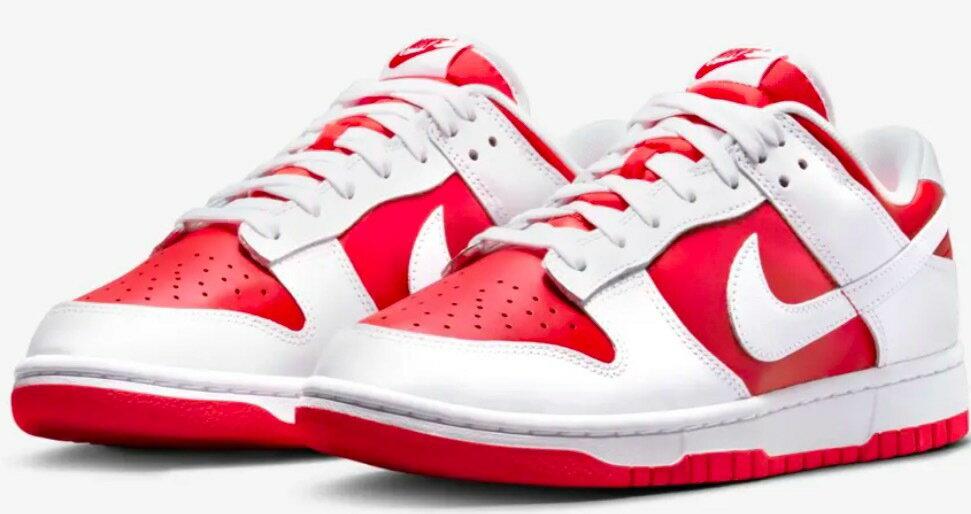 メンズ靴, スニーカー 921924P2 DD1391-600 NIKE DUNK LOW RETRO Championship Red US927cm University RedWhite-Total Orange