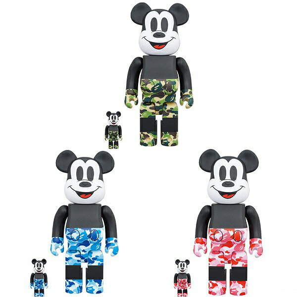 コレクション, フィギュア Medicom 400 100 Bearbrick A Bathing Ape Bape x Mickey Mouse 3