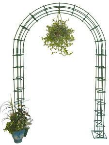 ガーデンアーチ ローズアーチ 高級 モスグリーン AHM3 幅1500×高さ2150×奥行250 手作り 異形棒鋼 アーチ バラ ガーデニング ローズ 薔薇 園芸用品 庭園 花壇 特注可能 送料無料 おしゃれ フラワ