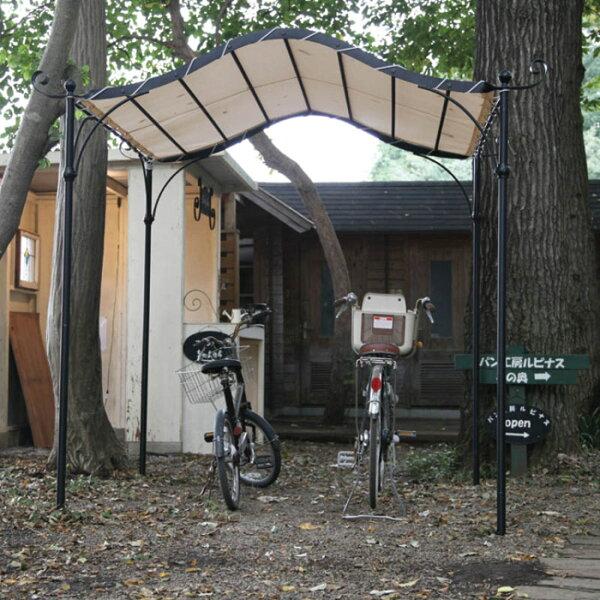 自転車置き場おしゃれサイクルポートフレンチサイクルポート2018アイアン製フレーム組立式サイクルガレージサイクルハウスdiy屋根