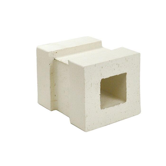 ブロック 塀 アプローチ エントランス レンガ セラボックス 90 基本 ホワイト (配筋溝あり・4本溝) 1個単位 屋外壁 diy