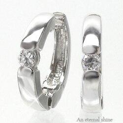 【送料無料】18金ダイヤモンド一粒イヤリング0.10ctK18ゴールド中折れ式イヤリングレディースジュエリー
