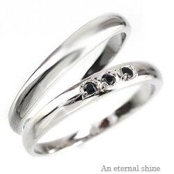 【送料無料】K18ブラック・ダイヤリング結婚指輪マリッジリングペアリングK18ゴールド18金ブラックダイヤモンドブライダルジュエリー人気【05P12Oct15】
