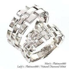 【送料無料】ペアリング プラチナ900(PT900)オリジナルリング セットリング 指輪 ペアアクセサリー 結婚指輪 マリッジリング 【楽ギフ_包装】【楽ギフ_名入れ】